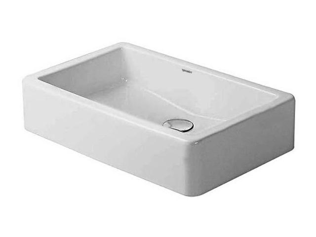 Duravit Vero Aufsatzwaschtisch B:60xT:38cm ohne Hahnloch ohne Überlauf geschliffen weiß 0455600000