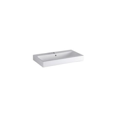 Geberit Keramag iCon Waschtisch B:75xT:48,5cm 1 Hahnloch mit Überlauf weiß mit KeraTect 124075600