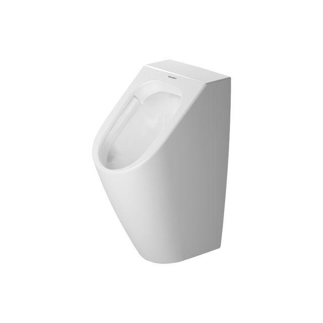 Duravit ME by Starck Urinal rimless ohne Spülrand ohne Deckel Zulauf oben weiß mit WonderGliss 28153000001