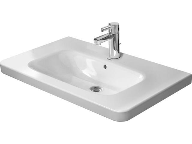 Duravit DuraStyle Möbelwaschtisch B:80xT:48cm 3 Hahnlöcher mit Überlauf weiß 2320800030