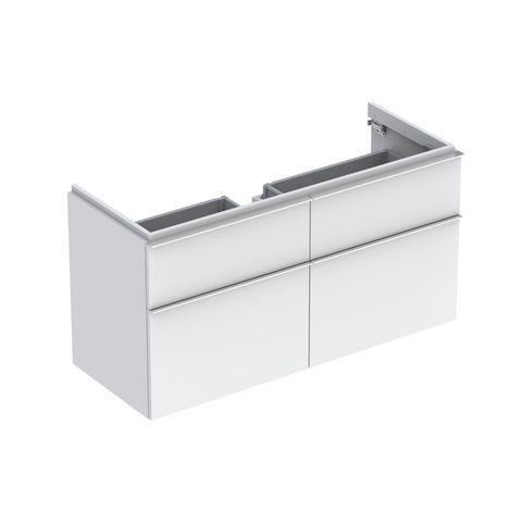 Geberit Keramag iCon Waschtischunterschrank mit 2 Auszügen und 2 Schubladen B:1190xT:477xH:620mm alpin matt 841420000