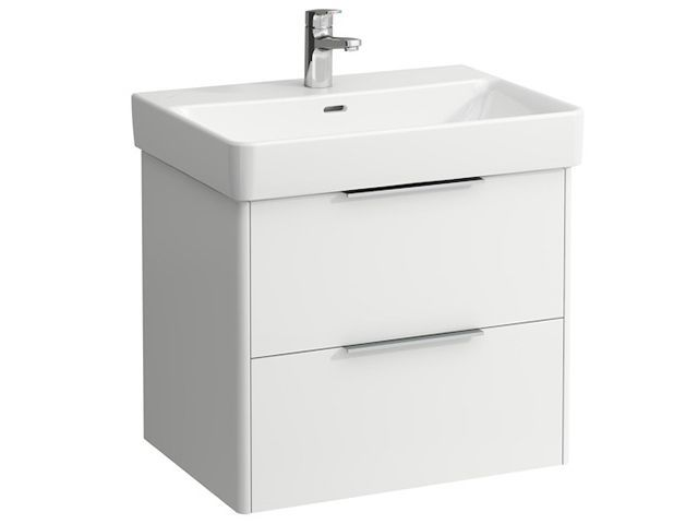 Laufen Base für Pro S Waschtischunterschrank B:61,5cmxH:53cmxT:44cm mit 2 Schubladen Weiß matt H4022921102601