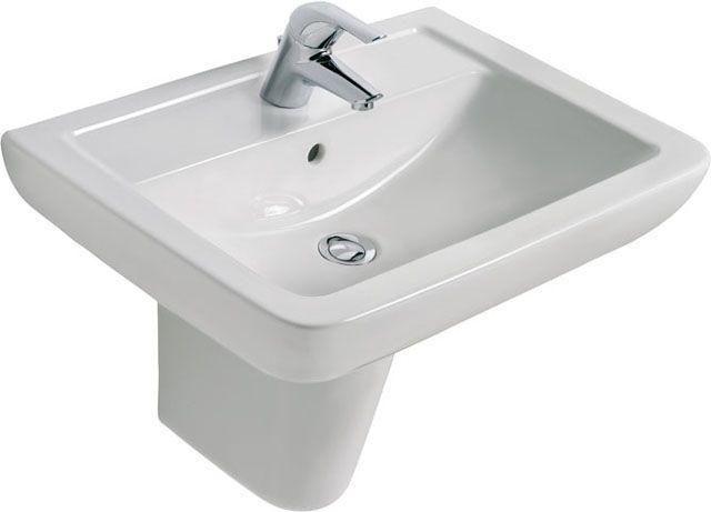 Ideal Standard Eurovit Waschtisch B:65xT:46cm 1 Hahnloch mittig mit Überlauf weiß V302801