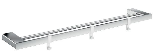 Emco loft Doppelbadetuchhalter 600mm plus 3 Haken chrom 056100160