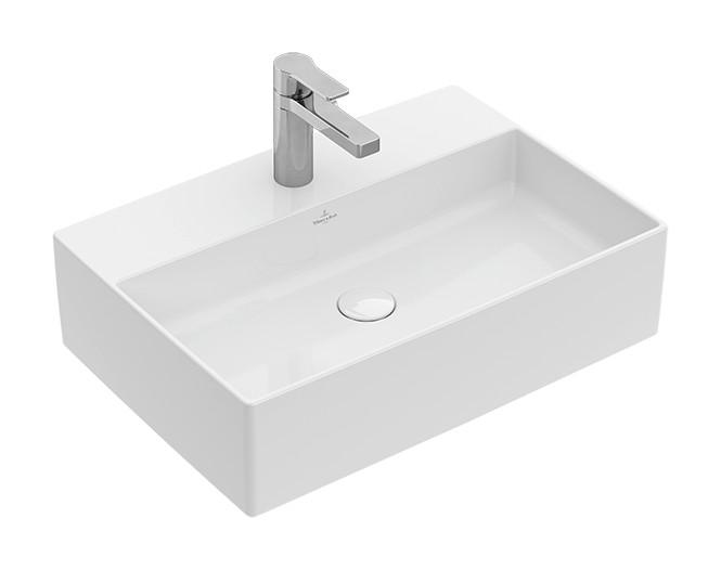 Villeroy & Boch Memento 2.0 Aufsatzwaschtisch B: 60cm mit Überlauf Stone White CeramicPlus 4A0760RW