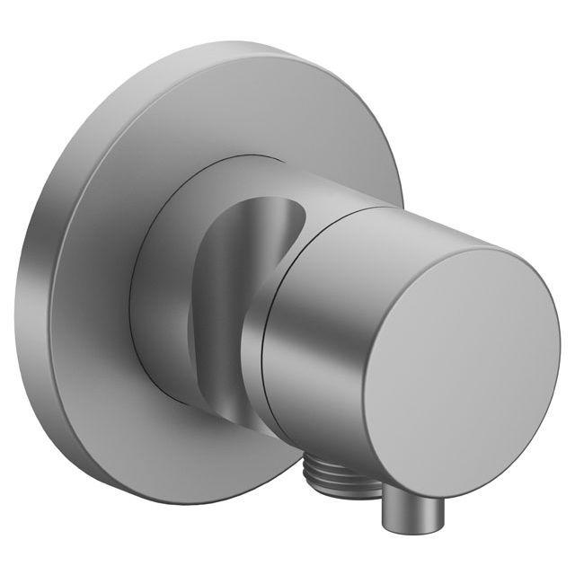 Keuco IXMO 3-Wege Umstellventil Comfort Schlauchanschluss Brausehalter rund Aluminium-finish 59548171201