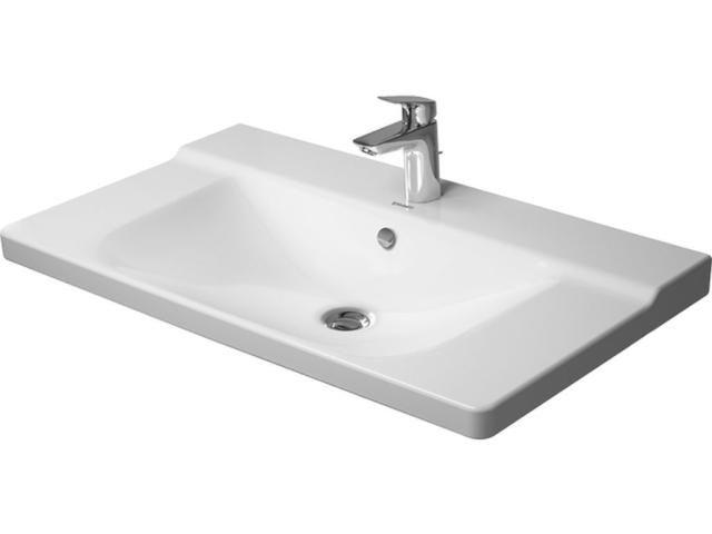 Duravit P3 Comforts Möbelwaschtisch B:85cm 1 Hahnloch mittig mit Überlauf weiß 2332850000