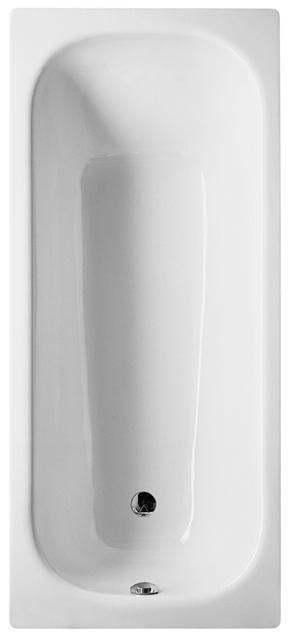 Bette Classic Rechteck-Badewanne L:170xB:75xT:48,3cm mit Griffbohrung und mit Antirutsch weiß 3110-0002GR,AR