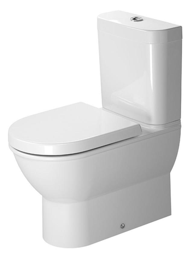 Duravit Darling New Tiefspül-Stand-WC für Aufsatzspülkasten L:63xB:37cm weiß mit Wondergliss 21380900001