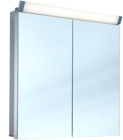 Schneider Paliline LED Spiegelschrank B:80xH:76xT:12cm 2 Türen Alu eloxiert 159.080.02.50