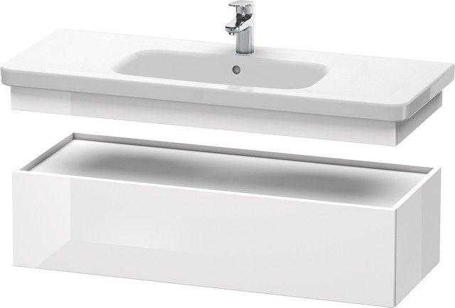 Duravit DuraStyle Waschtischunterschrank B:113xH:28,2xT:44,8cm 1 Auszug weiß matt, basalt matt DS628301843