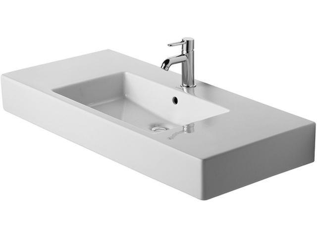 Duravit Vero Möbelwaschtisch B:105xT:49cm 1 Hahnloch mittig mit Überlauf weiß 0329100000