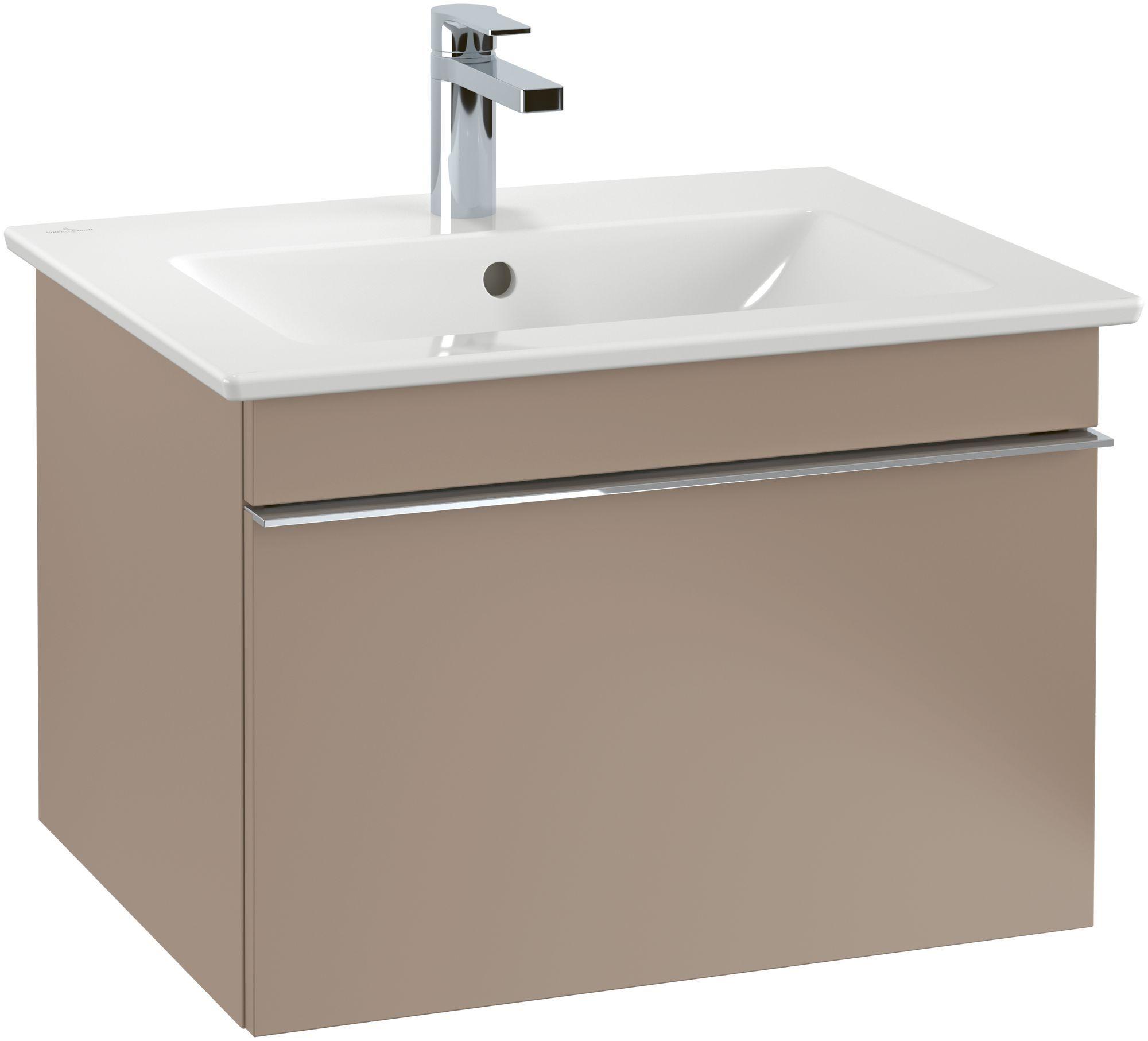 Villeroy & Boch Venticello Waschtisch B:65xT:50cm 1 Hahnloch mit Überlauf weiß mit Ceramicplus 412465R1