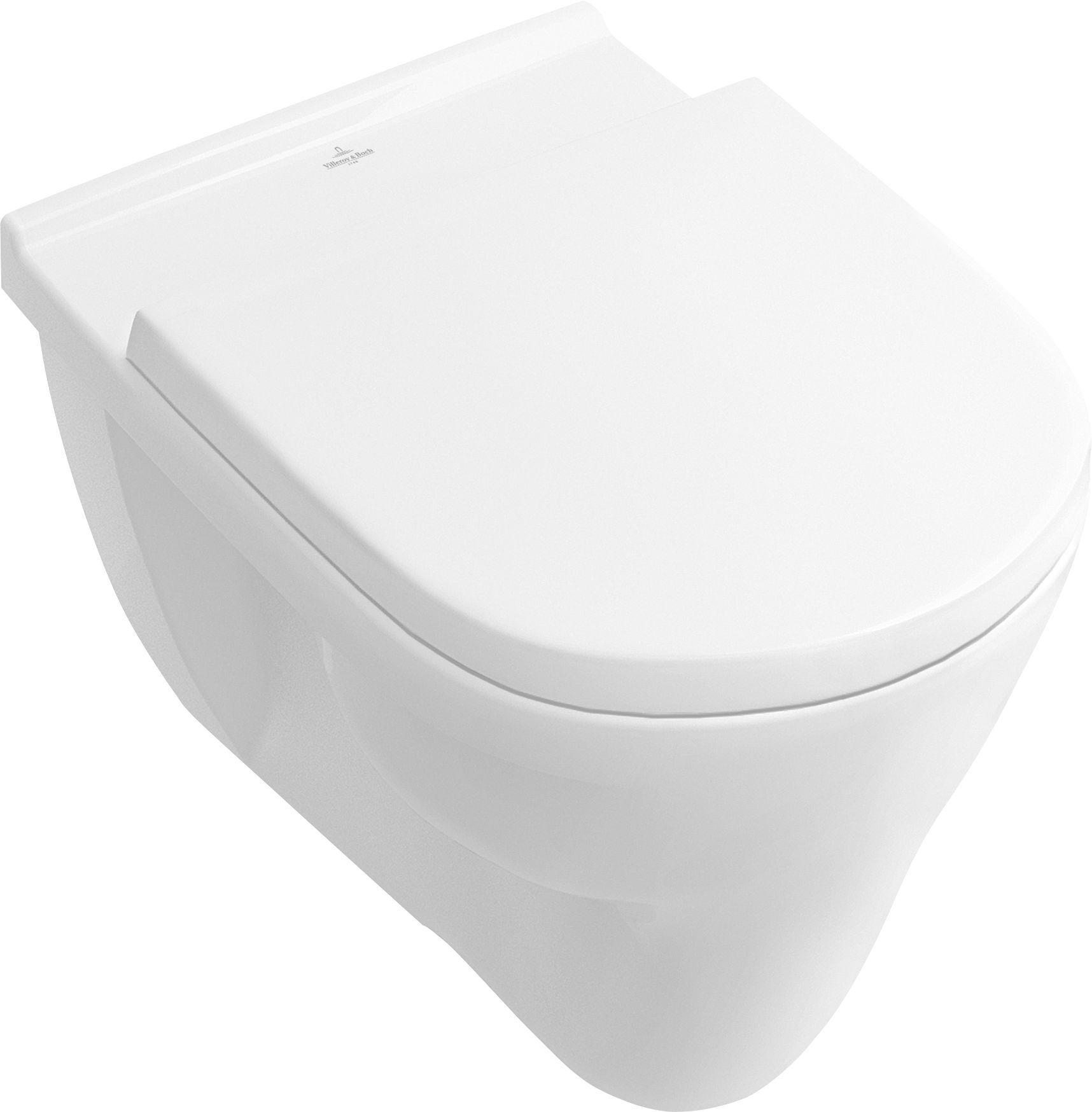 Villeroy & Boch O.novo Flachspül-Wand-WC L:56xB:36cm Weiß Alpin mit Ceramicplus 566210R1