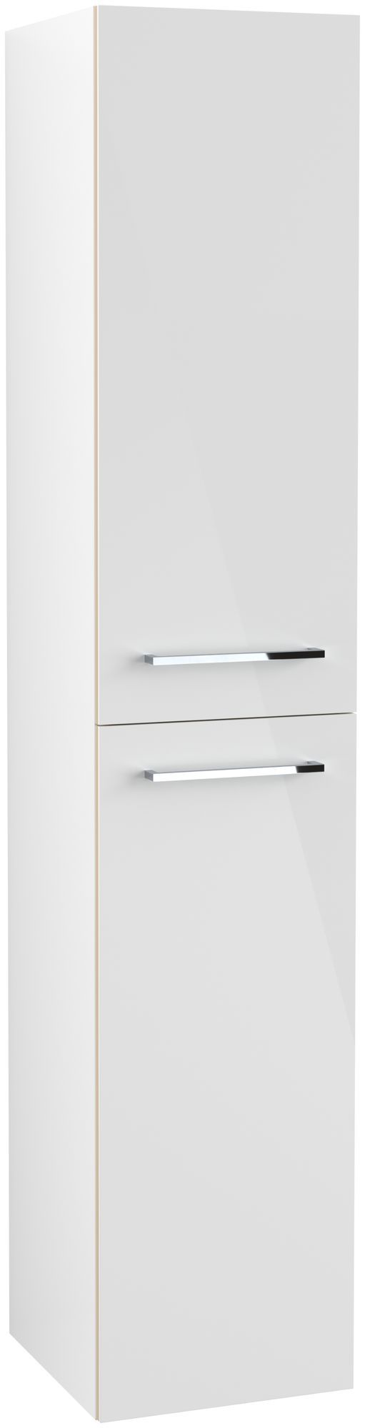 Villeroy & Boch Avento Hochschrank Türanschlag links B:35 x H:176 x T:37 cm crystal white A89400B4