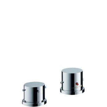 Hansgrohe Axor Starck 10480000 2-Loch Thermostatmischer Fertigset für Wannenrandmontage chrom