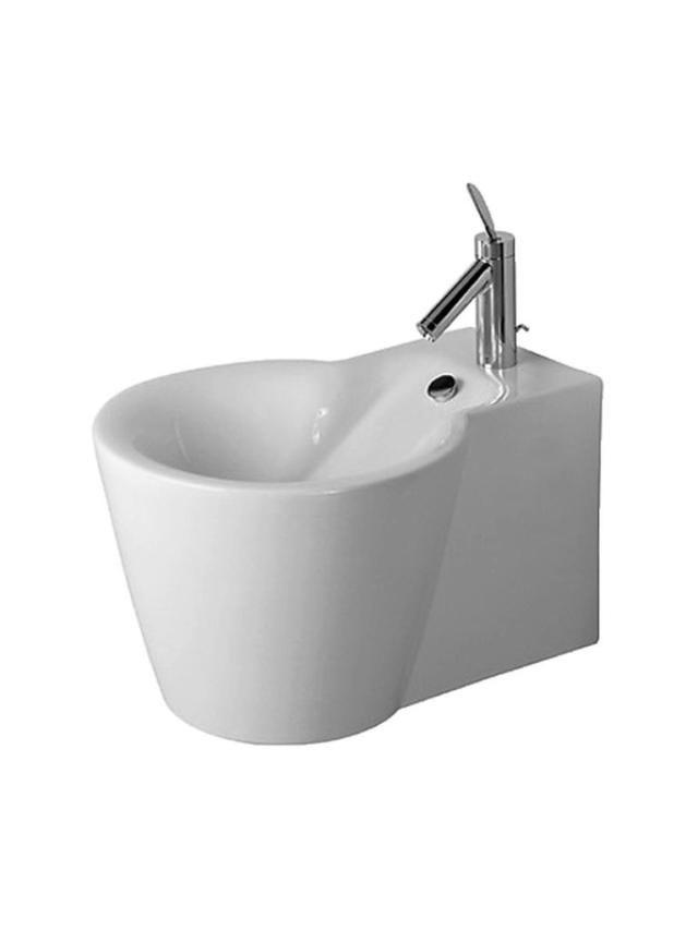 Duravit Starck 1 Wand-Bidet L:57,5cm für 1-Loch-Armatur mit Überlauf weiß 0274150000