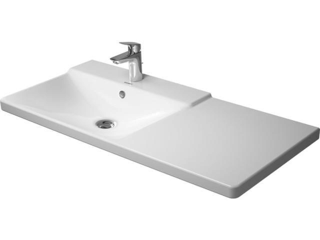 Duravit P3 Comforts Möbelwaschtisch B:105cm 3 Hahnlöcher mit Überlauf Becken links weiß 2333100030