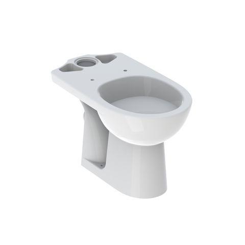 Geberit Keramag Renova Tiefspül-Stand-WC für Kombination, Abgang waagerecht weiß mit KeraTect 203820600