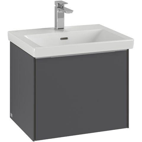 Villeroy & Boch Subway 3.0 Waschtischunterschrank 52,3x43,2x43,15cm mit Beleuchtung 1 Auszüge Waschtisch mittig Pure White C579L0VF