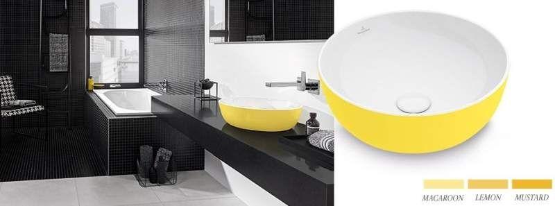 Villeroy & Boch Artis Aufsatzwaschtisch B:41xT:41cm ohne Hahnlochbank ohne Überlauf weiß lemon 417841BCT4