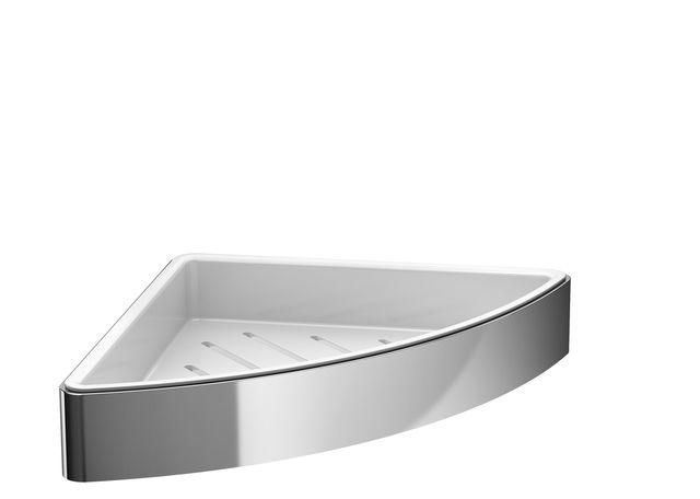 Emco loft Eckseifenkorb 179 x 34 x 179mm chrom/ weiß 054500103
