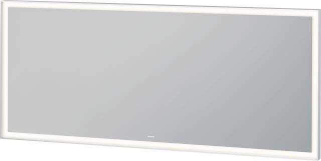 Duravit L-Cube Spiegel mit Beleuchtung B:160xH:70xT:6,7cm weiß matt gepulvert LC738500000