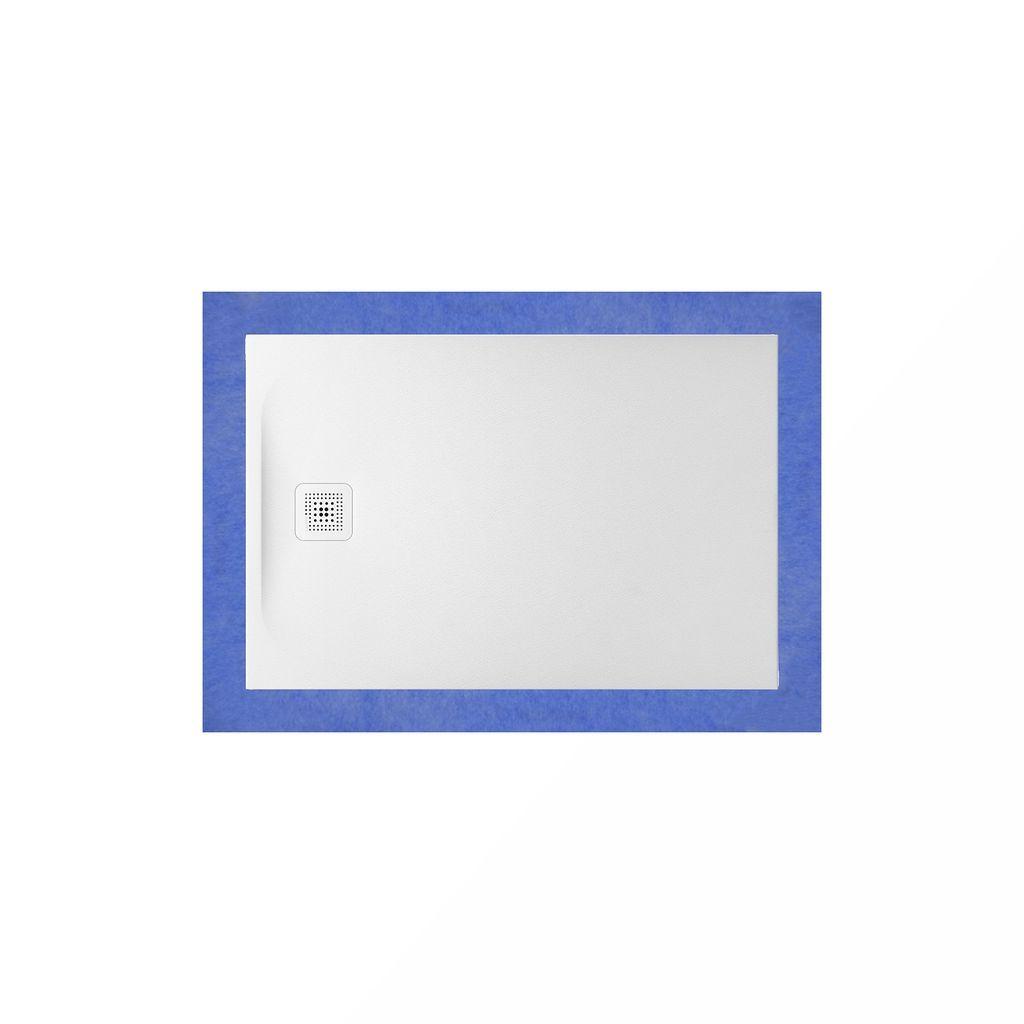 Laufen Duschwanne komplett Set Pro 800x1200x33 aus Marbond Ablauf kurze Seite inkl. Installationsrahmen Wannenrand-Dichtset Wannenprofil / Dämmband und Ablaufgarnitur weiss weiss H2169530000001