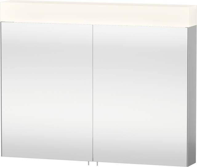 Duravit Vero Spiegelschrank mit Beleuchtung B:100xH:14,2xT:80cm 2 Spiegeltüren verspiegelt VE750300000