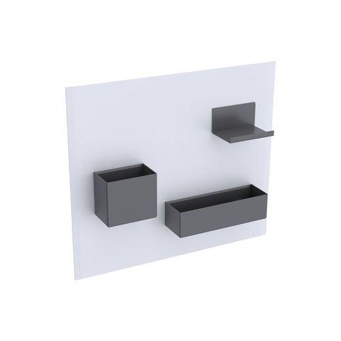 Geberit Keramag Acanto Magnetwand Set B:44,9 x H:38,8 x T:7,5 cm Magnetwand:Weiß, Ablage und Boxen:Lava matt 500649012