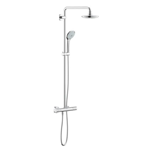 Grohe Euphoria 180 Duschsystem mit Aufputz Thermostat 450mm Duscharm Wandmontage chrom 27296001