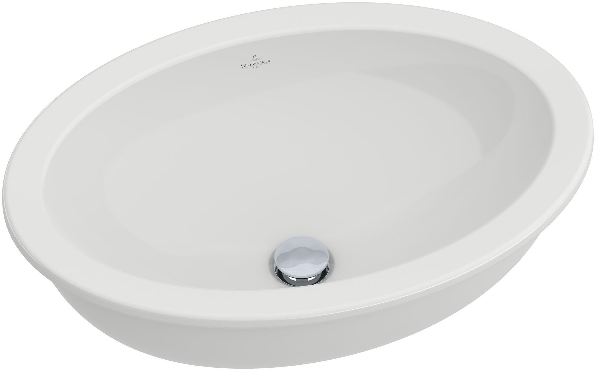 Villeroy & Boch Loop & Friends Unterbauwaschtisch B:56xT:37,5cm ohne Hahnloch ohne Überlauf weiß mit Ceramicplus 616131R1