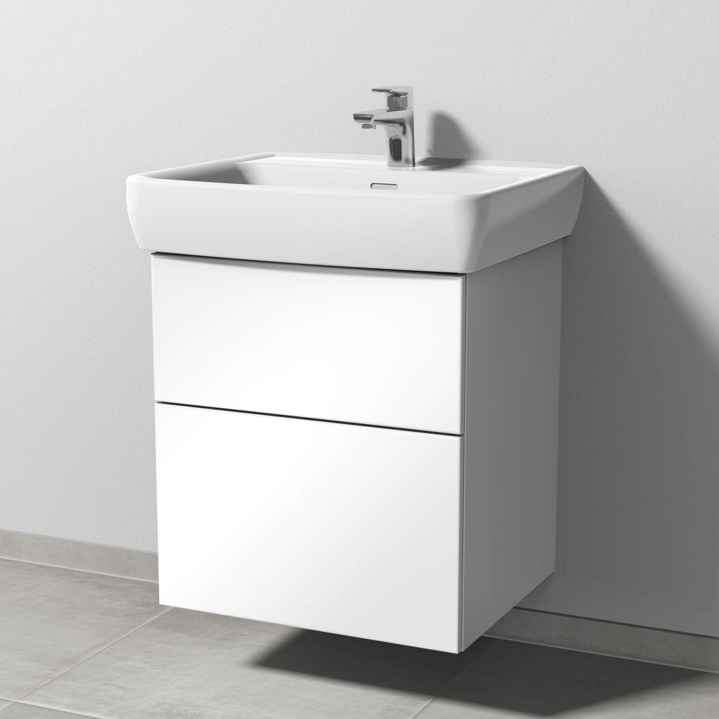 Sanipa 3way Waschtischunterbau mit Auszügen (SF756) H:58,8xB:52,5xL:44,7cm Schwarz-Matt SF75608