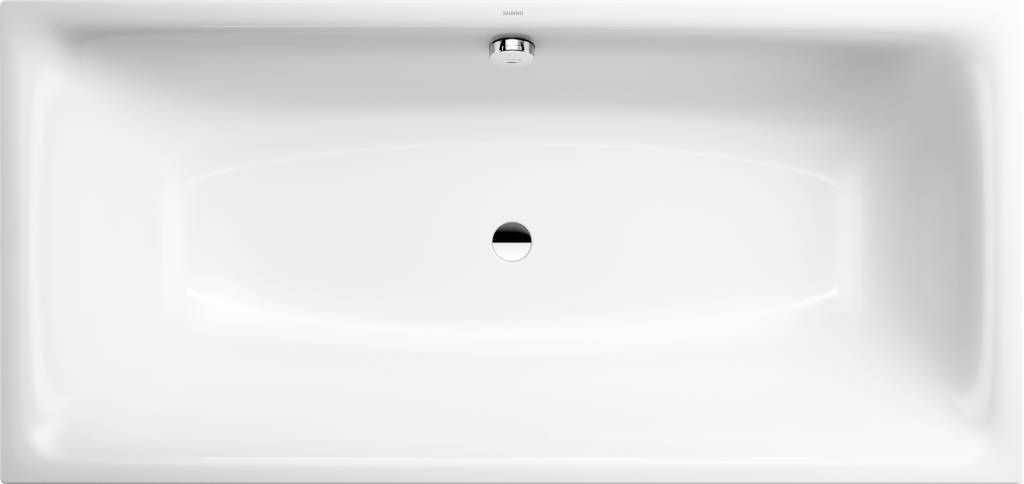 Kaldewei Ambiente Silenio 676 Rechteck-Badewanne L:180xB:80xT:43,5cm weiß Vollantislip 267634010001