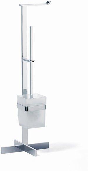 Giese Von der Rolle WC-Ständer mit Bürstengarnitur Kristallglas satiniert und chrom 31788-02