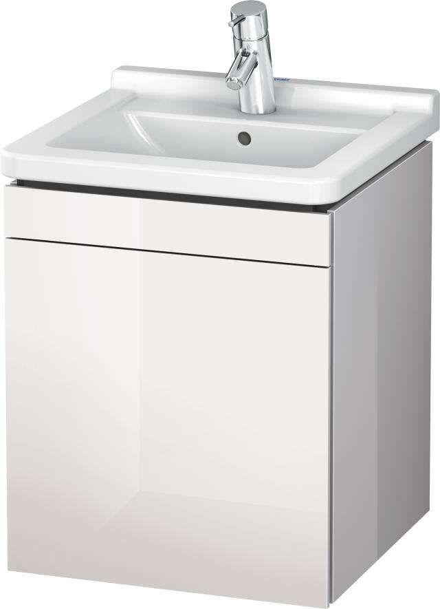 Duravit L-Cube Waschtischunterschrank wandhängend B:46xH:55,8xT:44,7 cm mit 1 Tür Anschlag rechts cappuccino hochglanz LC6168R8686