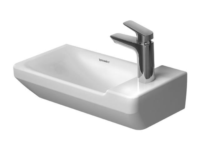 Duravit P3 Comforts Handwaschbecken B:50cm 1 Hahnloch mittig ohne Überlauf weiß mit Wondergliss 07155000001