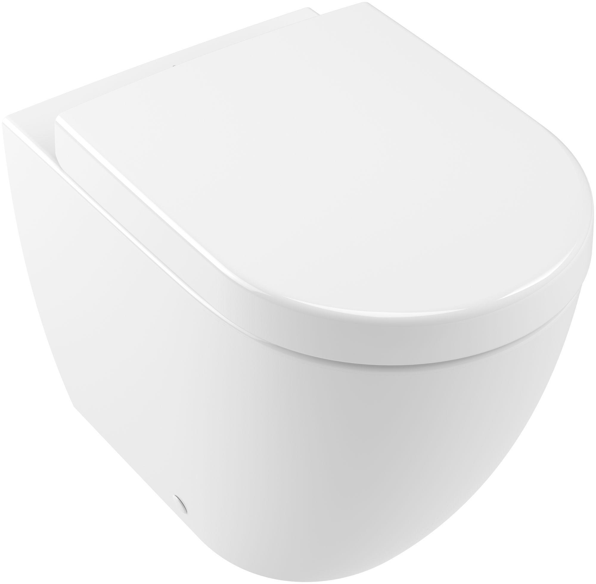Villeroy & Boch Subway 2.0 Tiefspül-Stand-WC spülrandlos DirectFlush B:37xL:56cm weiß Ceramicplus 5602R0R1