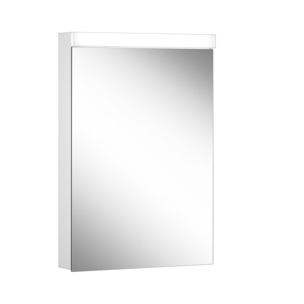 Schneider Spiegelschrank DAILY Line Ultimate 50/1/TW/R B:50xH:74,8xT:12cm mit Beleuchtung weiß 178.052.02.02