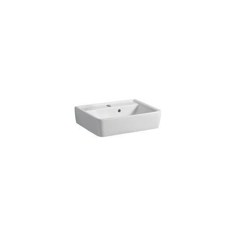 Geberit Keramag Renova Plan Handwaschbecken B:50xT:38cm 1 Hahnloch mit Überlauf weiß mit KeraTect 272150600