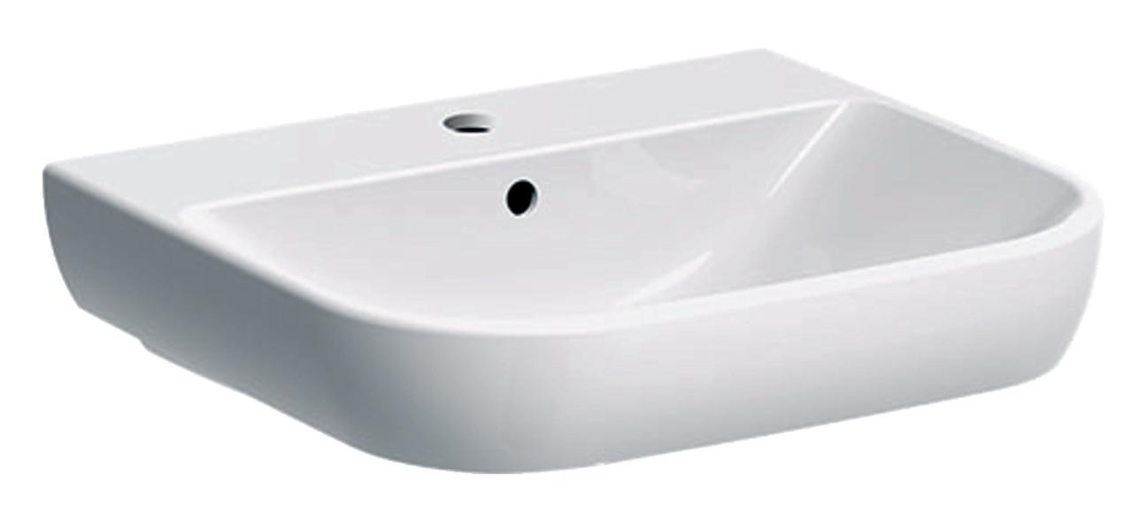 Geberit Smyle Waschtisch 55x48cm mit Hahnloch mit Überlauf weiß mit KeraTect 500227018