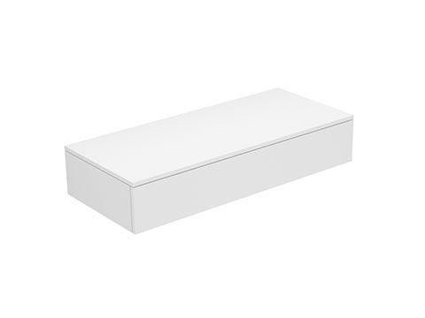 Keuco Edition 400 Sideboard wandhängend 1 Frontauszug 1050 x 199 x 450 mm titan/Glas titan satiniert 31750160001
