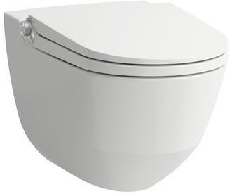Laufen Cleanlet Riva Dusch-WC Komplettanlage spülrandlos weiß mit CleanCoat H8206914000001