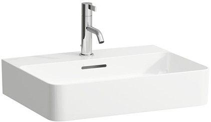 Laufen VAL Aufsatzwaschtisch mit einem Hahnloch mit Überlauf Unterseite geschliffen B:55xT:42cm weiß mit CleanCoat LCC H8162824001041
